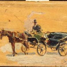 Un coche de caballos