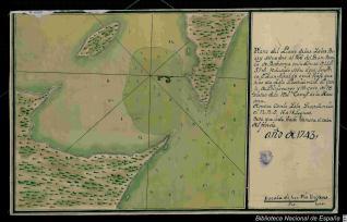Plano del Puerto de las Yslas Berry