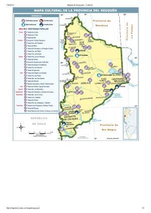Mapa cultural de Neuquén. Mapoteca de Educ.ar