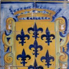 Paño de seis azulejos heráldicos
