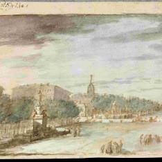 El Paseo del Prado y el Paseo de Recoletos desde la Fuente de las Cuatro Estaciones