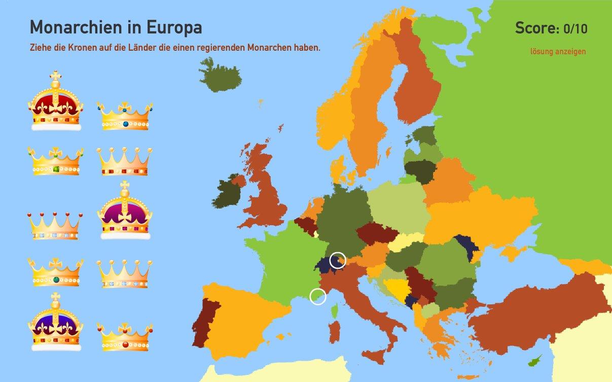 Monarchien in Europa. Toporopa