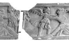 Tapa de sarcófago romano. Invierno y Primavera