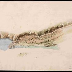 Plan topográfico de una presa