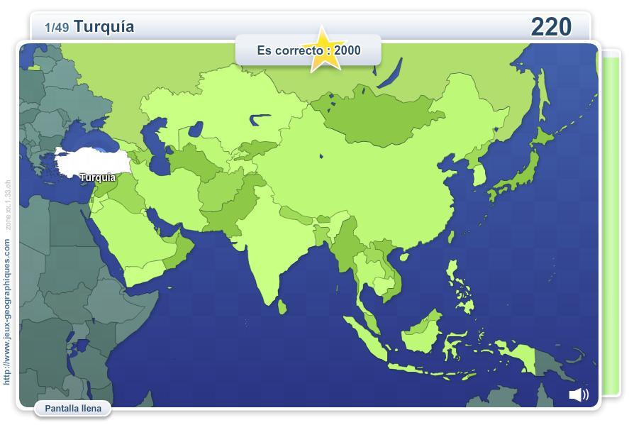 Geo Quizz Asia. Juegos Geográficos