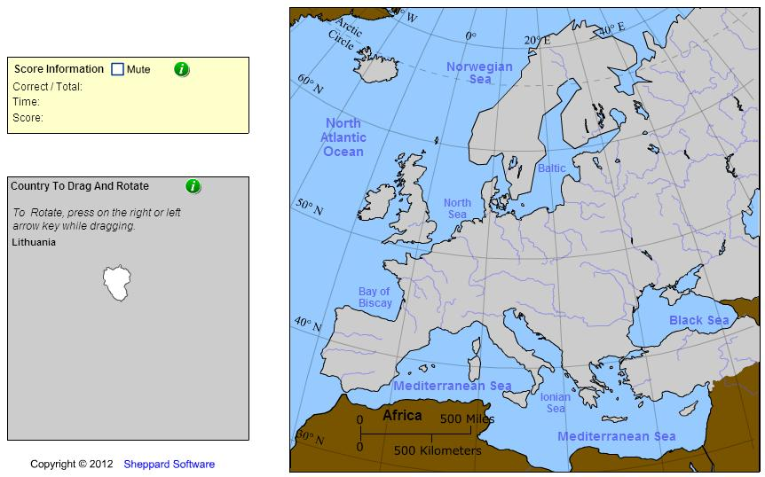 Countries of Europe. Geographer. Sheppard Software