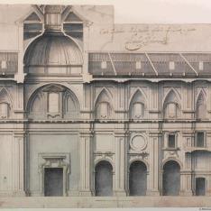 Corte ynterior de la nueba yglesia de S. Justo y pastor
