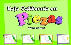 Municipios de Baja California. Puzzle. INEGI de México