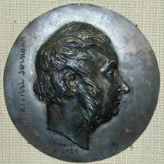 Medallón con el retrato de Marechal Jourdan