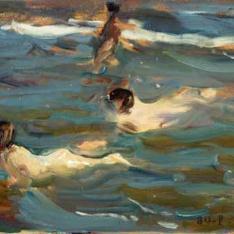 Chicos nadando, Jávea
