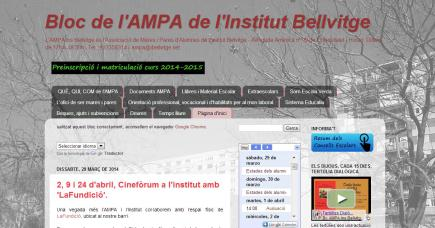 Bloc de l'AMPA de l'Institut Bellvitge