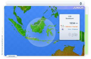 Cities of Indonesia Junior . Geography map games