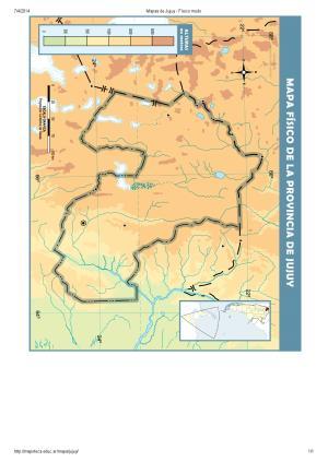 Mapa mudo de ríos de Jujuy. Mapoteca de Educ.ar