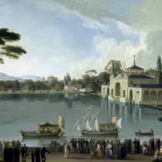 Embarque Real en el estanque grande del Retiro