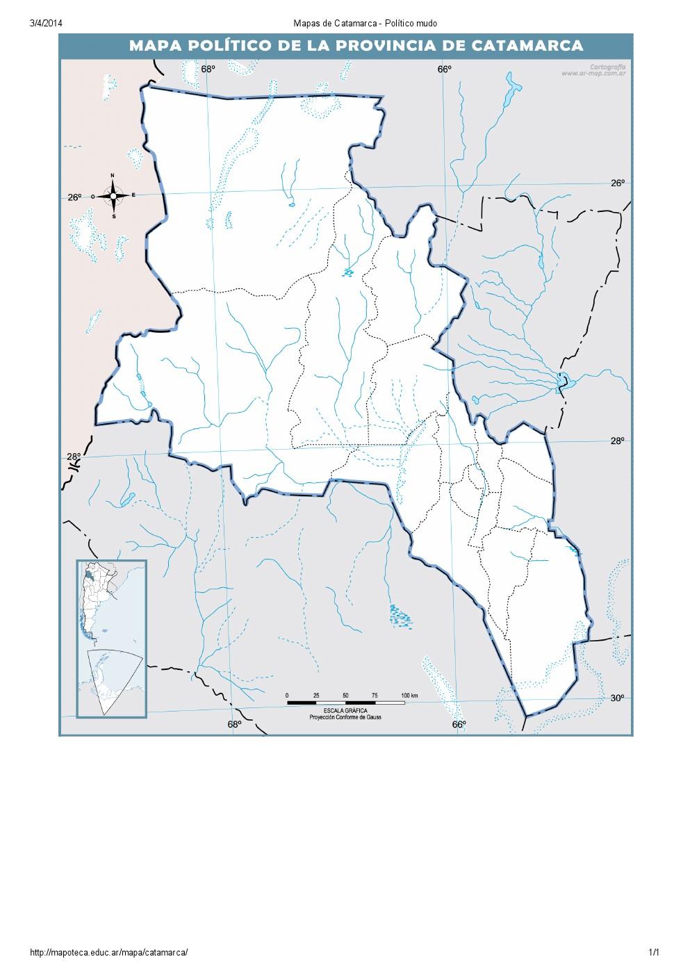 Mapa mudo de capitales de Catamarca. Mapoteca de Educ.ar