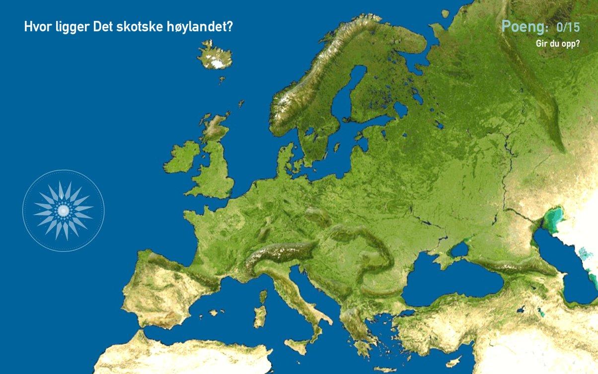 Fjellkjeder i Europa. Toporopa