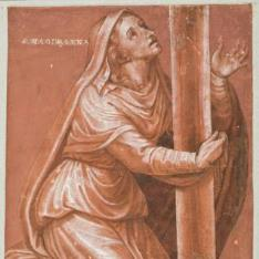 La Magdalena al pie de la Cruz