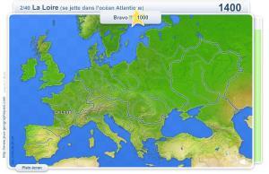 Fleuves et rivières de'Europe. Jeux géographiques
