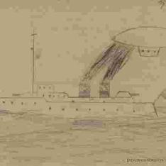 Barco con dirigible