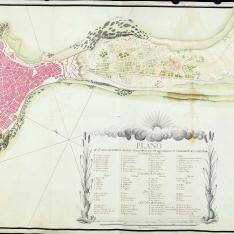Plano de la Plaza de Cadiz y Fuertes dependyentes de ella
