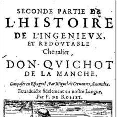 Seconde partie de l'histoire de l'ingenieux et redoutable cheualier, don Quichot de la Manche