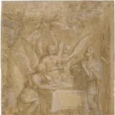 Abraham recibiendo a los tres ángeles