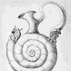 Jarrón en forma de caracol
