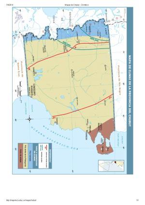 Mapa climático del Chubut. Mapoteca de Educ.ar