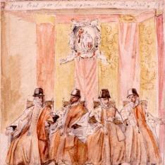 Reproducción de una pintura mural del palacio de la Audiencia de Valencia  (Palau de la Generalitat)