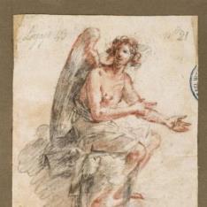 Ángel sedente