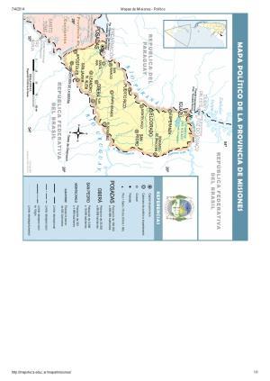 Mapa de capitales de Misiones. Mapoteca de Educ.ar