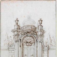 Puerta de entrada a un jardín]h[Material gráfico