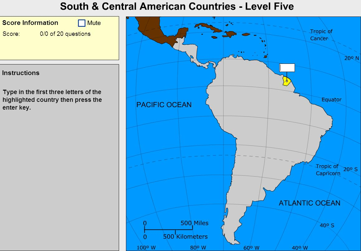 Countries of South and Central America. Expert. Sheppard Software