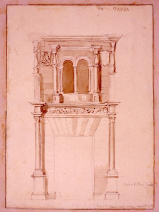 Detalle de la portada de la casa Jurado en Baeza, Jaén