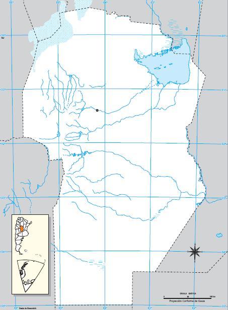 Mapa mudo de Córdoba. IGN de Argentina