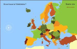 Régions de l' Europe. Toporopa