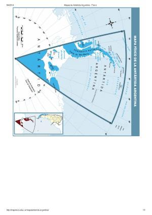 Mapa de ríos de la Antártida Argentina. Mapoteca de Educ.ar