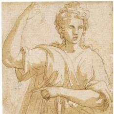 Figura femenina con vestimenta clásica