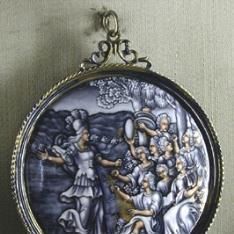 Minerva (?) y ninfas