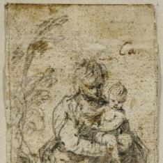 Santa Isabel con San Juan Bautista niño