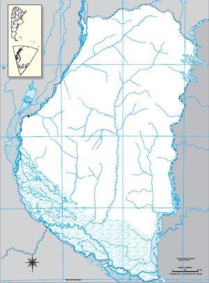 Mapa mudo de Entre Ríos. IGN de Argentina