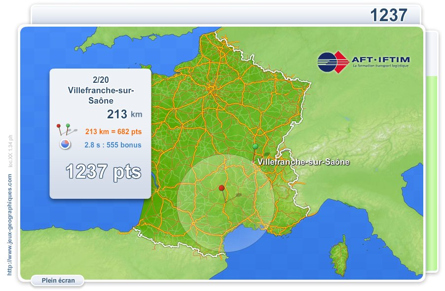 Villes de France Transports. Jeux géographiques