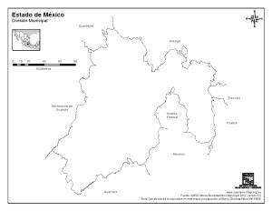 Mapa mudo del Estado de México. INEGI de México