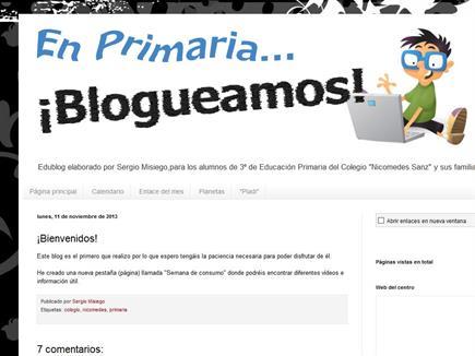 En primaria blogueamos