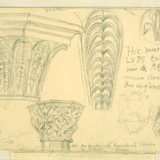 Detalles de capiteles y motivos decorativos del Monasterio de Veruela, Zaragoza