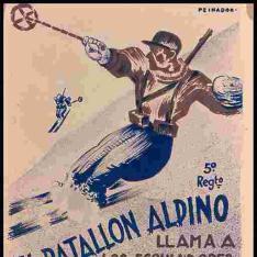 El batallón alpino llama a los esquiadores al combate