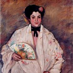 La mujer del abanico