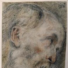 Cabeza de anciano / Niño Jesús