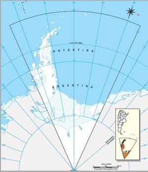 Mapa mudo de la Antártida Argentina. IGN de Argentina