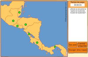 Capitales de países de Centroamérica. Dibujos para pintar